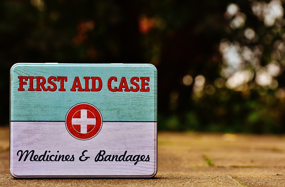 First aid kit to help you avoid moving injuries.