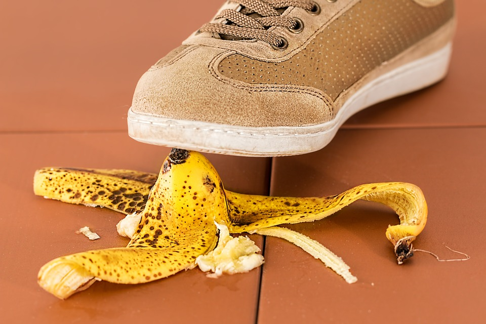 Slipping up on a banana is not a moving day safety hazard.
