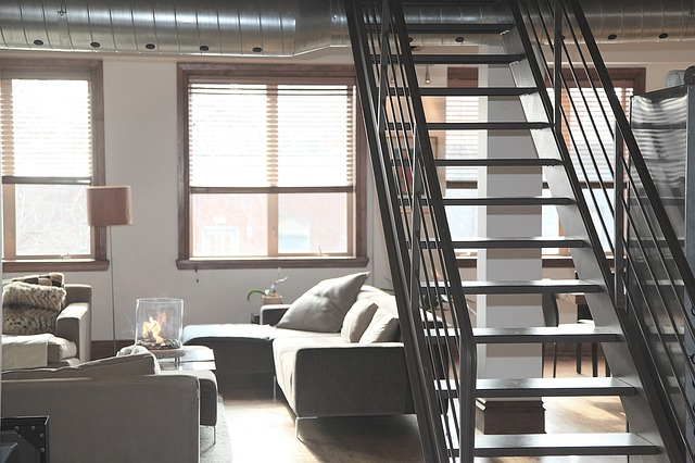 stairs in the apartment
