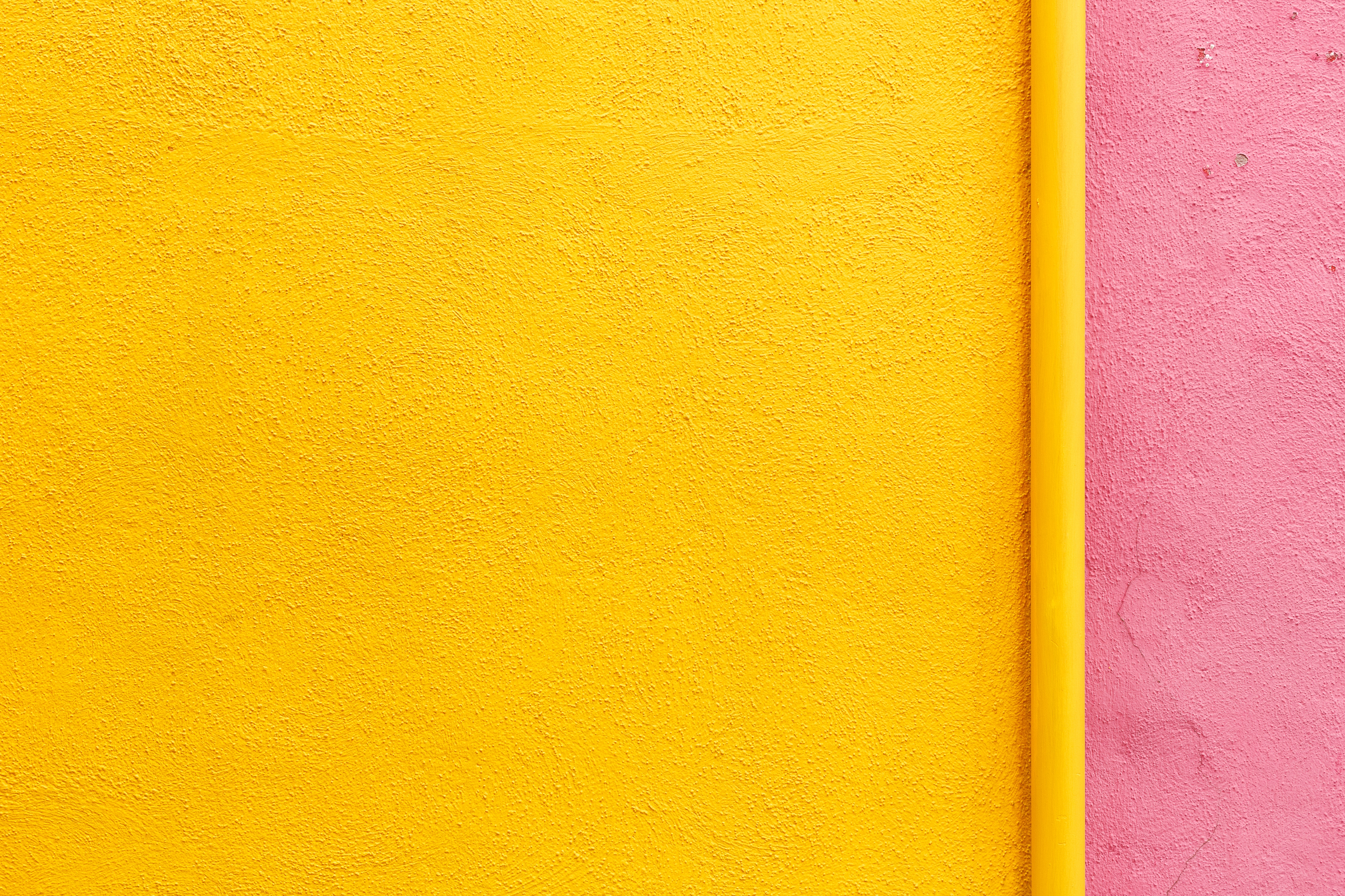 yellow and pink wall