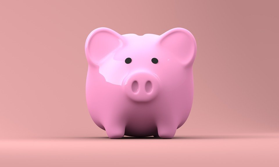 A piggy bank in which to save money for Highland Park movers.