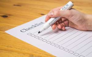 Checklist - something you have to make when moving on a deadline