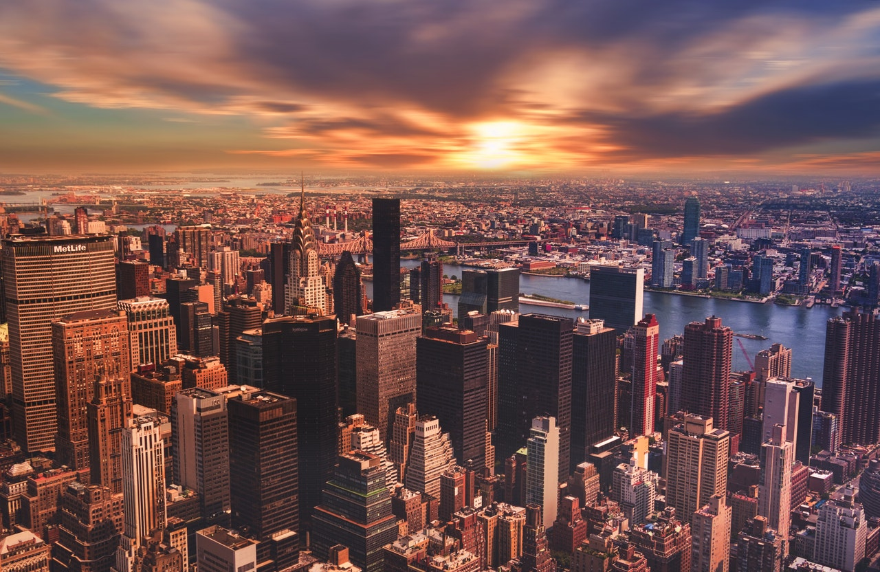Cityscape view of New Jersey