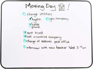A moving day checklist
