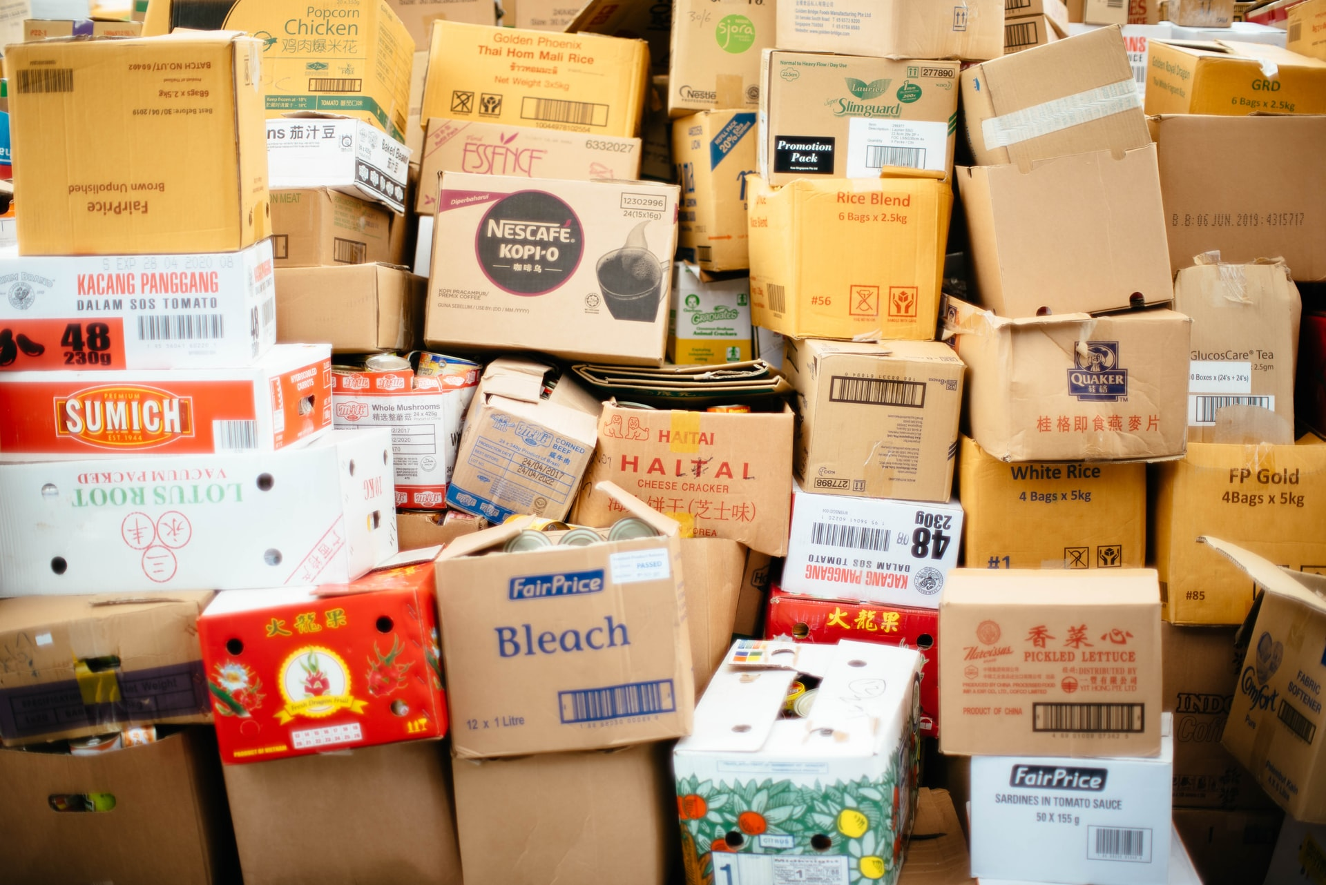 Boxes for recycling