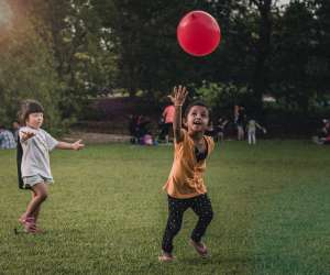 kids playing with a ball