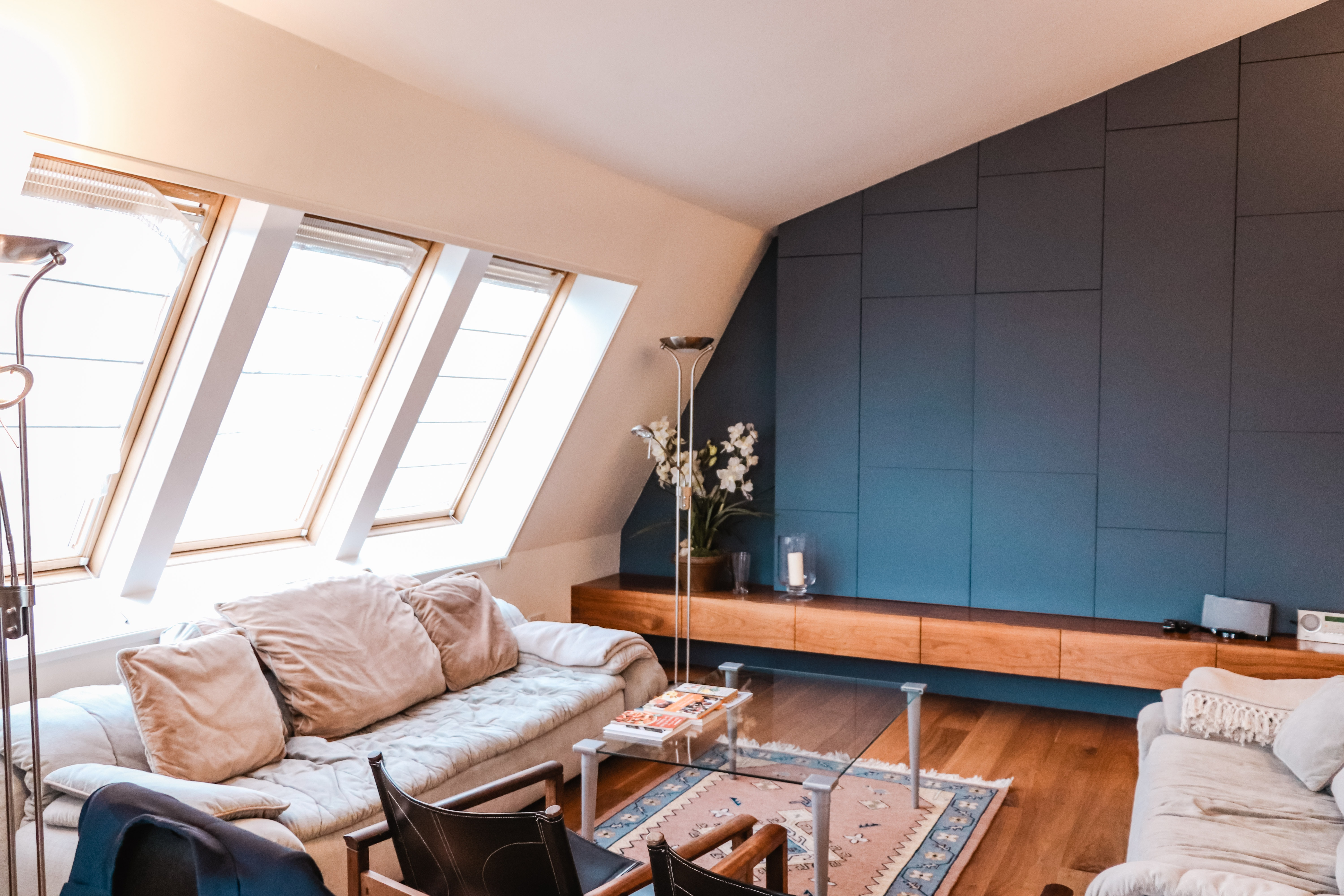 a room depicting living in a house vs an apartment