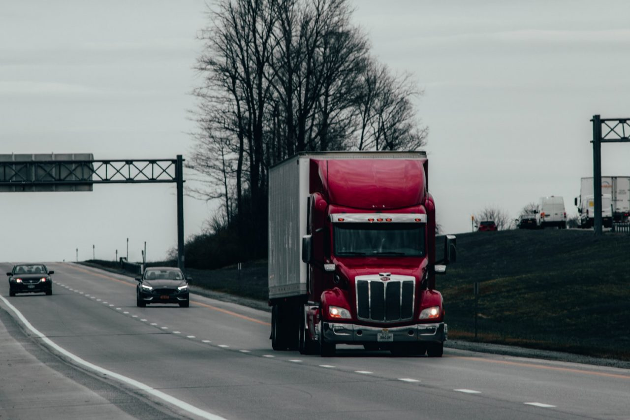 truck performing cross country move to Newark