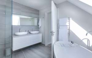clean and neat bathroom