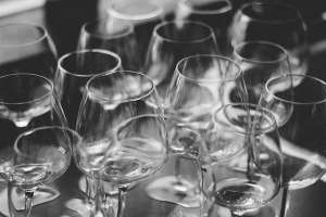 Glassware on the table
