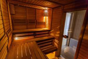 relaxing after reading home sauna ideas