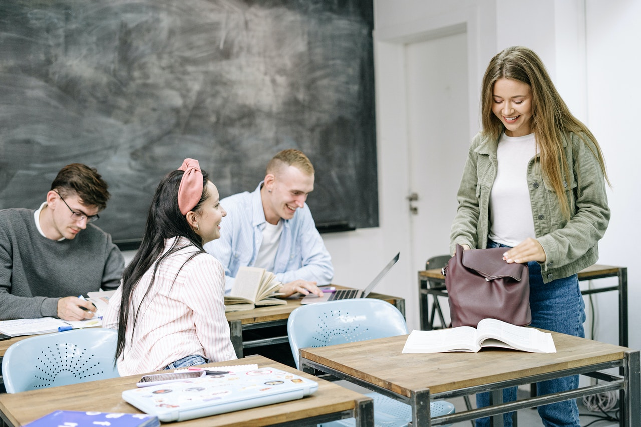College students sitting in the classroom