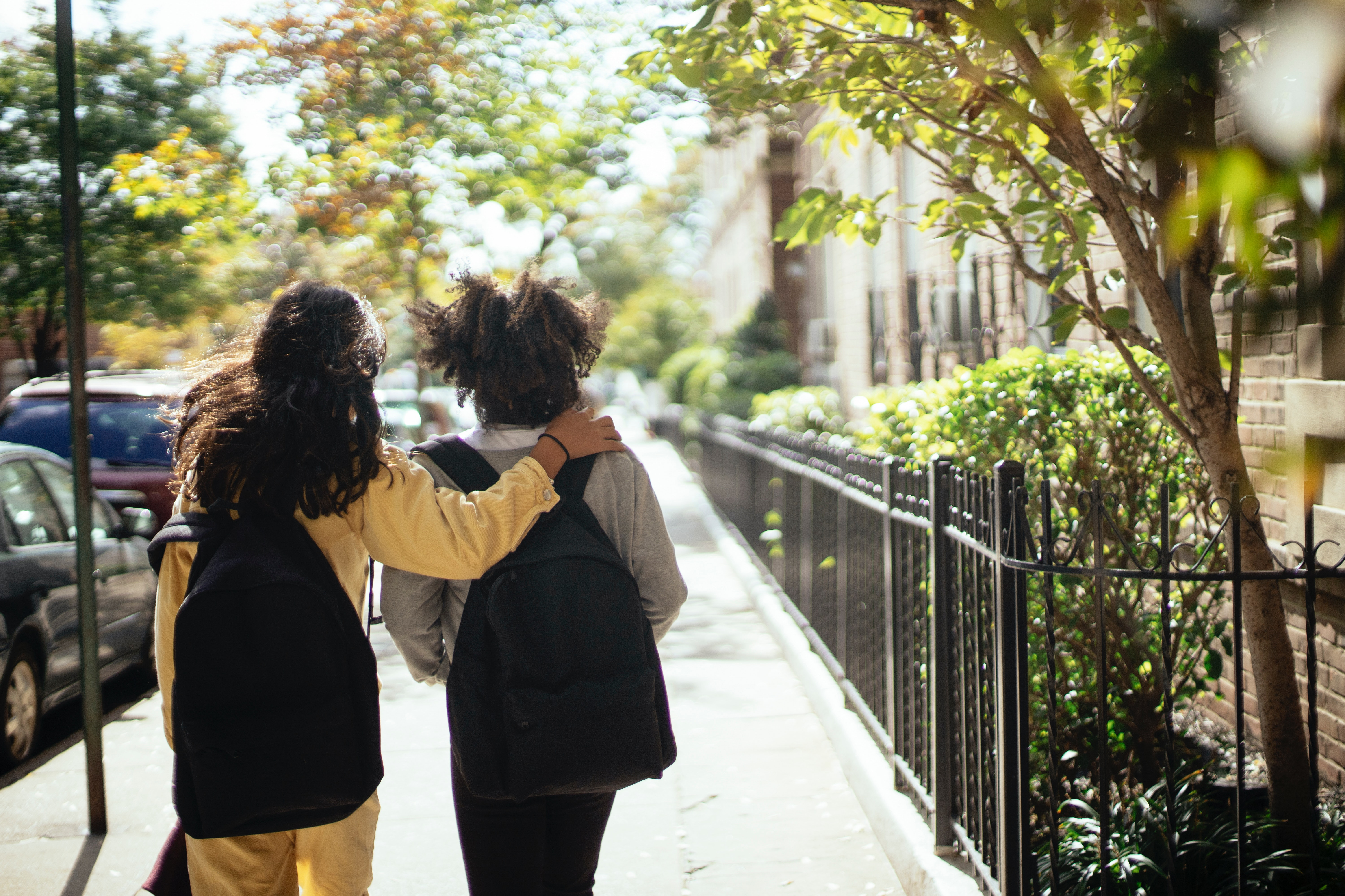 walking and trying to help your kids get to used to life in New York