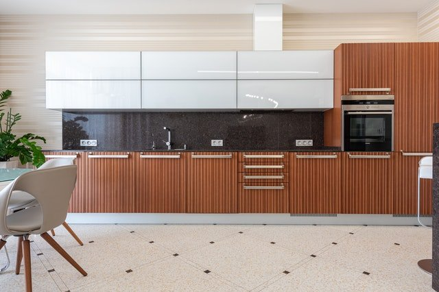 Cupboards and other kitchen elements
